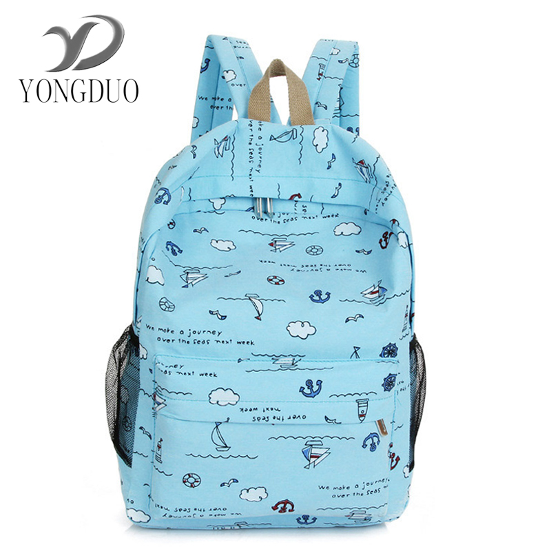 YONGDUO 2017 New Style College Canvas Lady Bag Leisure Travel Shoulder Pack Korean Edition Middle School