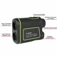 Big discount 5-600m Handheld 6X Laser Range Finder Distance Speed Meter Telescope for Golf High Precision Hunting Laser Rangefinders