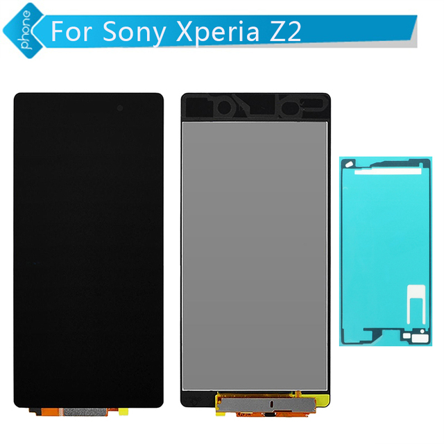 For Sony Xperia Z2 L50W D6503 LCD Display Touch Screen Digitizer Assembly +Adhesive sticker Free Shipping
