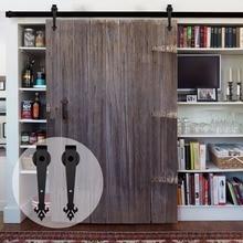 LWZH 18ft 19ft 20ft Sliding Wood Barn Door Hardware Kit Hanging Wheel America Style Closet System for Single
