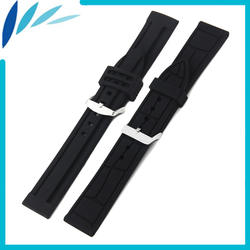 Силиконовая резинка часы 20 мм 22 мм для Longines L2 L3 L4 мастер флагманский завоевание ремешок на запястье петли для ремня браслет черный +