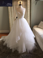 BRITNRY Simple Sweetheart Wedding Dress 2018 Backless Organza Tulle Ball Gown Bride Dress White Ivory Weeding Gowns