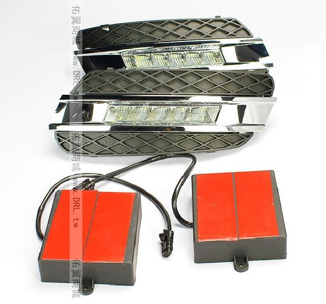 Free shipping by EMS LED daytime running light for Mercedes-Benz W164 ML350 ML280 ML300 ML320 ML500 2006-09, 2010-11 LED DRL 10pcs error free led lamp interior light kit for mercedes for mercedes benz m class w163 ml320 ml350 ml430 ml500 ml55 amg 98 05