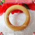 65mm de madeira de lótus anel de cortina de cor natual da madeira/wood circle/anel titular da cortina com verniz marrom pintura navio livre