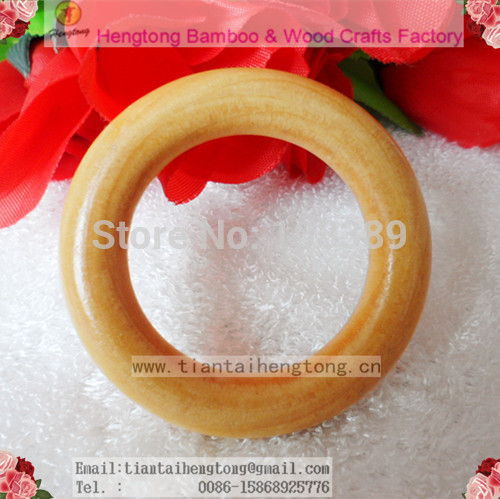 65mm lotus wood natual wood color curtain ring / wood circle/curtain ring holder with clear varnish brown paint  free ship