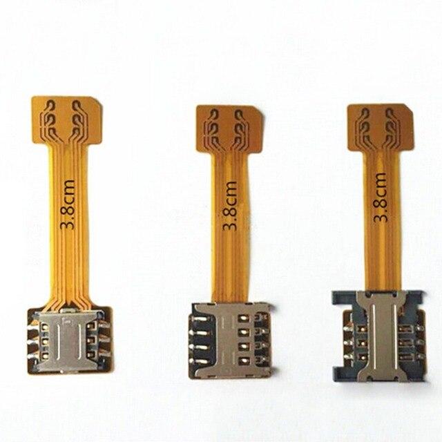ไฮบริดคู่คู่ซิมการ์ดmicro sdอะแดปเตอร์extender 2นาโนซิมอะแดปเตอร์สำหรับa ndroid xiaomi redmi note 3 4 3วินาทีproนายกรัฐมนตรี4a mi 4x