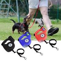 Retractable Pet Dog Belt Light Pick Up Bag Pet Retractor 5m Dog Leash