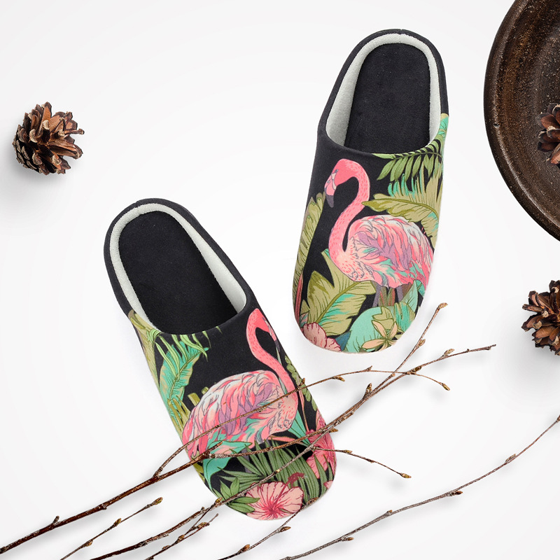 Flamingo Slippers Women winter  Ladies 2018 Casual Flats Sweet Flip Flops Sandals Lovely Women Shoes