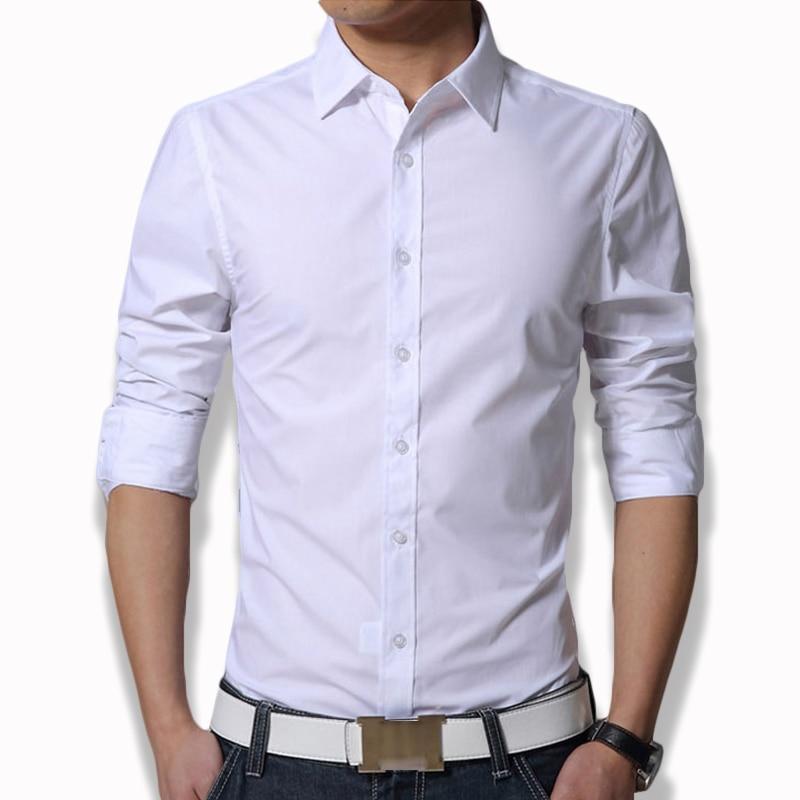 Gut Herren Langarm Fit Dünnes Kleid Shirt Xxxl Plain Weiß Armee Grün Navy Blau Schwarz Männer Formale Shirts Kleidung Plus Größe Cs12 Guter Geschmack Herrenbekleidung & Zubehör