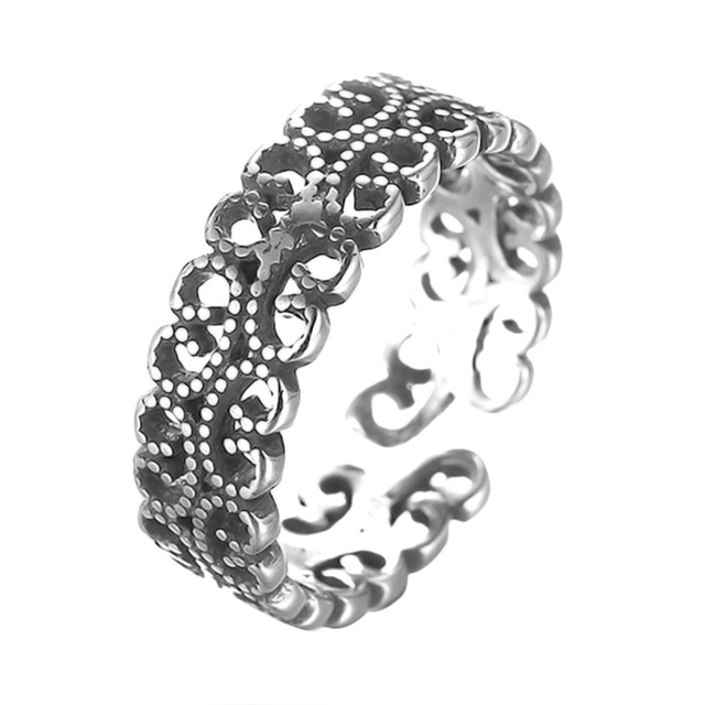 Todorova Antique Beach Punk Rings Vintage Geometric Knuckle Rings for Women Men Carved Adjustable Finger Foot Toe Ring 1