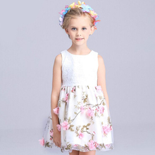 Chrismas Baby Girl Princess Party Pearl Lace Tulle Flower Gown Fancy Dress Sundress