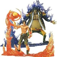 Anime One Piece DXF Ace Vs Teach Ability Showdown Fire To Dark Stand Toys PVC Action