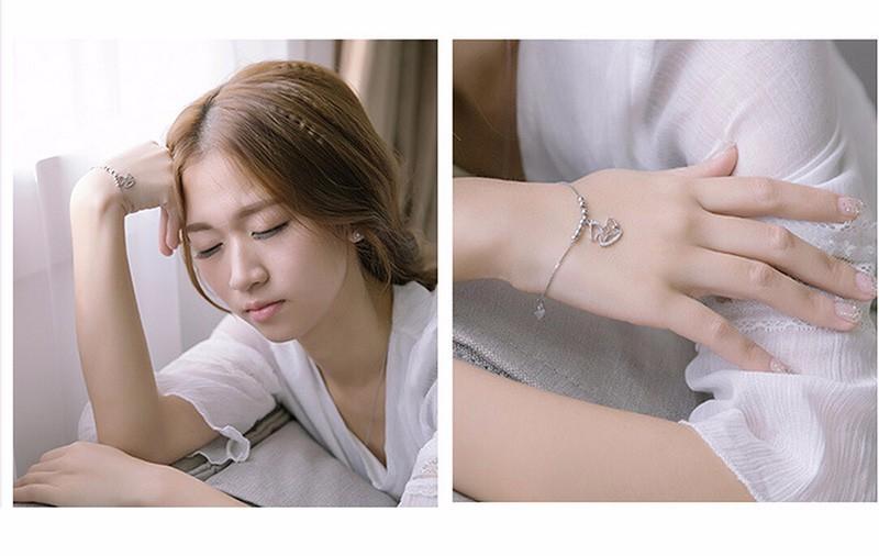 silver charm anklet or bracelet model