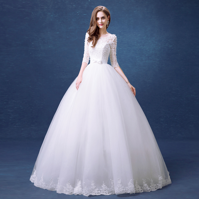Wedding Gown Fabric Guide: 2016 Strong Recommend Tulle Fabric Backless Lace Pearls