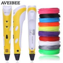 Aveibee Modle 3D Printing Pen 3 D Stifte Mit 10 farbe 100 Meter ABS Materialien Kreative Geschenk Für Design Malerei zeichnung