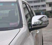 Chromed Side Door Mirror Cover Trim For Toyota FJ150 Prado Land Cruiser 2010 2015