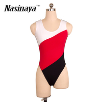 Woman Girls shaping Fitness Gymnastics Wear Leotard Sleeveless Ballet Dance Costume Color Matching Adult Training Clothes Basic