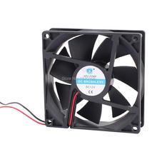 40pcs lot gdstime 90mm x 25mm 9025 90x90x25mm 3pin 12v dc brushless pc cpu cooler cooling fan 2 Pcs 90mm x 90mm x 25mm Computer Case CPU Cooler DC 12V 0.2A Cooling Fan