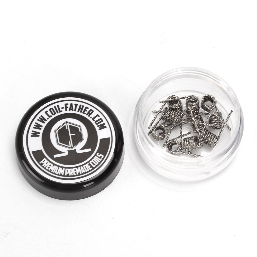 Coil Father 10pcs Box Premium Premade Coils A1 Prebuilt For Wiring Including The Power Inside Coilsbox My Term Rda Clapton Wire Hive Tiger Quad Fused Wires In Electronic Cigarette
