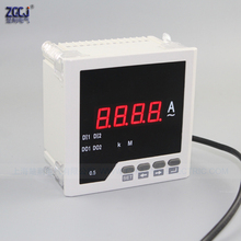 New type easy install 96*96*55mm CJ-AA31S 0-5A AC digital AC ampere panel meter short depth amp panel instrument current meter three phase digital voltmeter ammeter digital ampere panel meter 96 96 led display combined meter