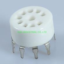 5pcs Thin Ceramic Tube socket 9pin PCB Mount B9A Base 12AX7 12AU7 6N11 6922 6DJ8