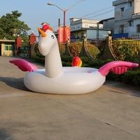 Гигантские надувные единорог вечерние птиц River Island Большие размеры Единорог лодка гигантский Фламинго float Фламинго остров для 6 8person