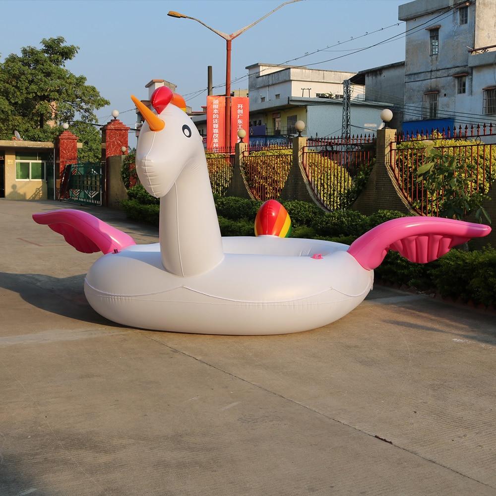 Géant Gonflable Licorne Partie Bird Island Grande taille licorne bateau géant flamingo flotteur Flamingo Island pour 6-8person