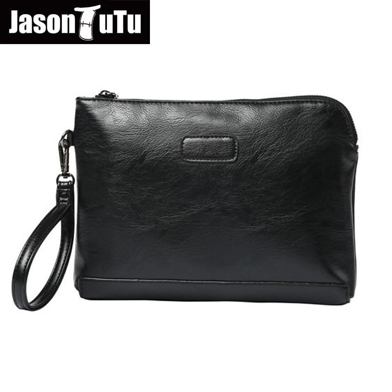 JASON TUTU Brand men clutch bags Purse and handbags leather men wallets Organizer Wallet card holders Male phone bag B586