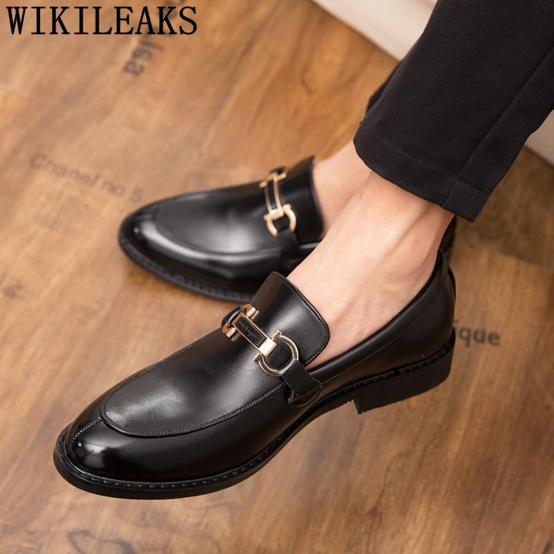Coiffeur Wedding Shoes Men Wedding Italian Shoes Men Formal Brand Patent Leather Elegant Shoes For Men Sepatu Slip On Pria Bona