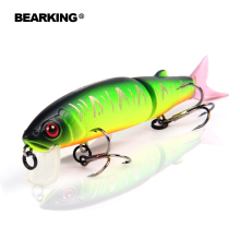 Bearking 2016good fishing lure minnow high quality skilled bait 11.3cm 13.7g swim bait jointed bait outfitted black or white hook