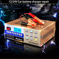 Newest 110V/220V Automatic Electric Car Battery Charger Intelligent Pulse Repair Type Battery Charger 12V/24V 6AH-200AH MF-2C
