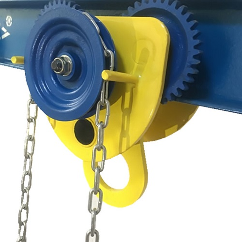 1TX3M Geared Trolley Manual Hand,CE Certificate I-beam Monorail Trolley Lifting Chain Hoist Chain Block Crane Lifting Sling(China)