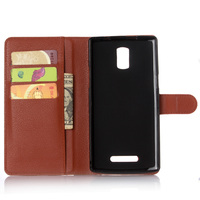 Cyboris cover For DOOGEE KISSME DG580 5.5 inch Case flip case Lichee Holster PU Leather with card slot holders stand function
