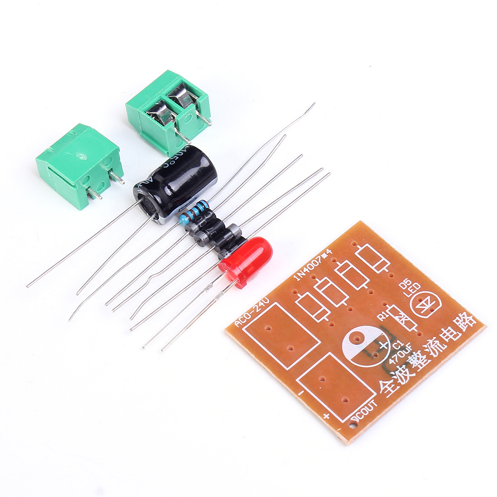 3pcs Lot Diy Kits In4007 Full Wave Bridge Rectifier Circuit Board Of Suite Ac To Dc Power Supply Converter Electronic Teaching In Integrated Circuits From