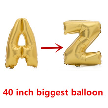 40 Inch 1m 100cm super Large golden Letter air balloon aluminum foil globo Party wedding grapheme Advertising ballon car card