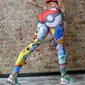 Mulheres Quentes Calças Calças perna Estreita Macio Impresso Longa Sheathy Leggings Multicolor/Cinza/Azul/Flesh