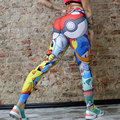 Women Warm Soft Narrow leg Printed Long Sheathy  Pants Trousers Leggings Multicolor/Grey/Blue/Flesh