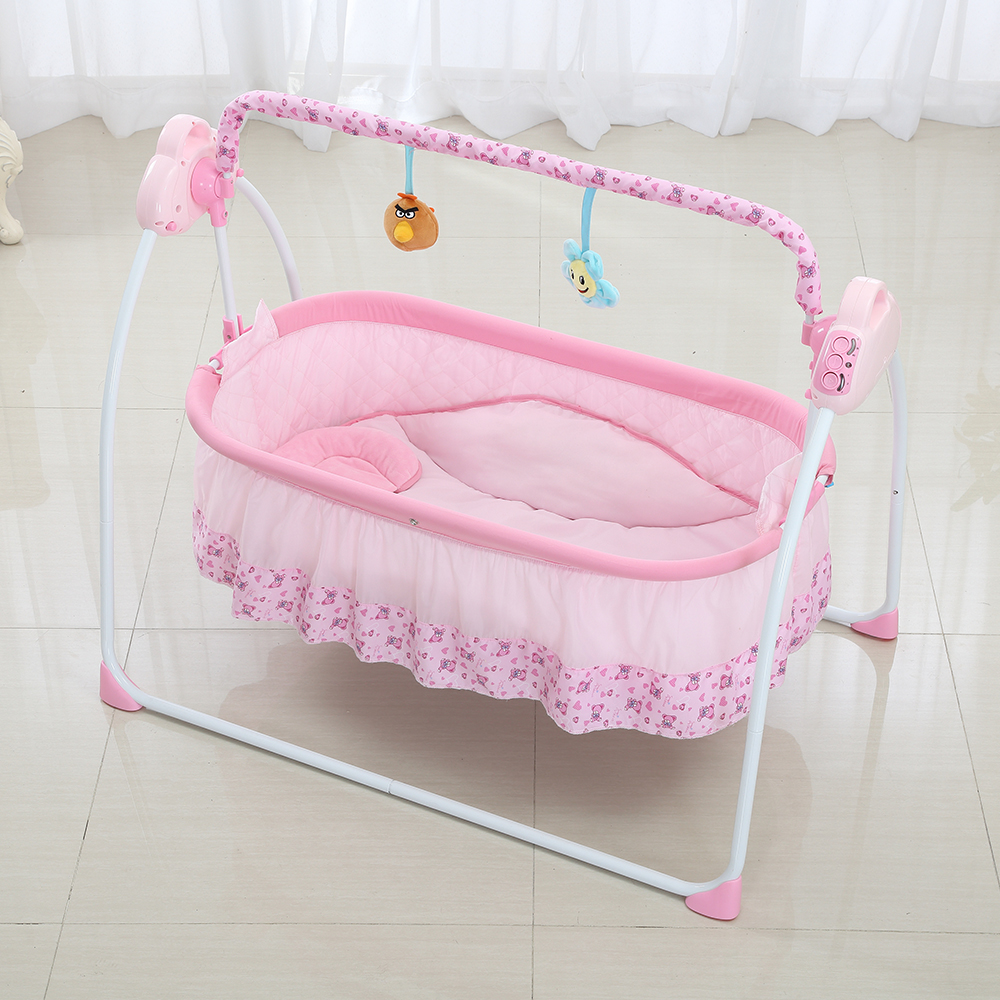 Portable Baby Cradle Bed Children BB Iron Bed Cradle Bed Baby Play Bed With Roller Baby Bassinet Baby Swing Cradle