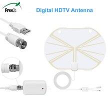 Satxtrem цифровой HDTV Крытый Antena 50 миль в диапазоне усилитель сигнала для кабельного телевидения поддержка V7 HD/V8 Супер Спутниковый ресивер
