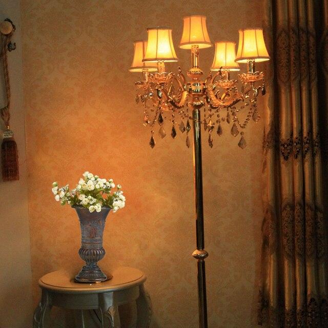Gold Antique Floor Lamp Bedroom Gold Vintage Crystal Floor Light With  Lampshade Contemporary Floor Lights Weddinhg
