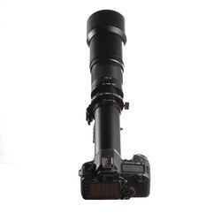 New 650-1300mm f/8-16 Telephoto Lens Manual Zoom TELE + T2 Mount Adapter for Canon Nikon DSLR Camera EF EF-S Mount Lens