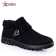 Winter warm style men leather ankle boots fashion boots lace up Casual solid rubber men shoes