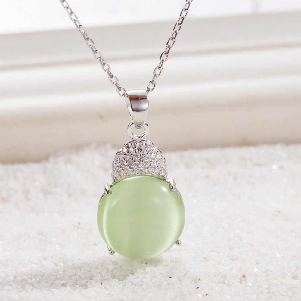 100% Настоящее серебро 925 пробы, ювелирные изделия, кулон с Зеленый Опал модные подвески