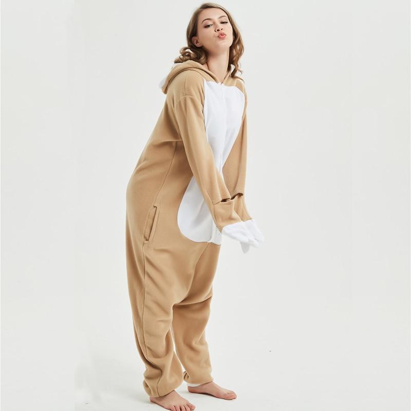 Loose Cartoon Character Sloth Onesies Adult Pajamas Polar Fleece Kigurumi For Halloween Onepiece Winter Jumpsuit Pijama Cosplay (5)