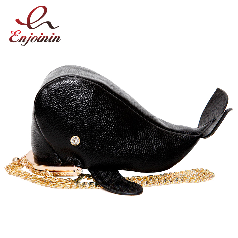 Cute whale style personality design pu leather chain purse ladies shoulder bag handbag women's crossbody mini messenger bag  fun fashion personality disposable leather pu leather chain shoulder bag handbag female crossbody mini messenger bag purse