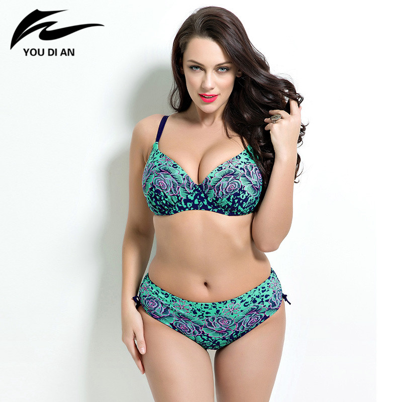 897e534ee3 bikinis 2019 mujer plus size fat bikinis suit Bathing Push up bikini Super Large  size Bikini set Swimwear women Sexy Swimsuit