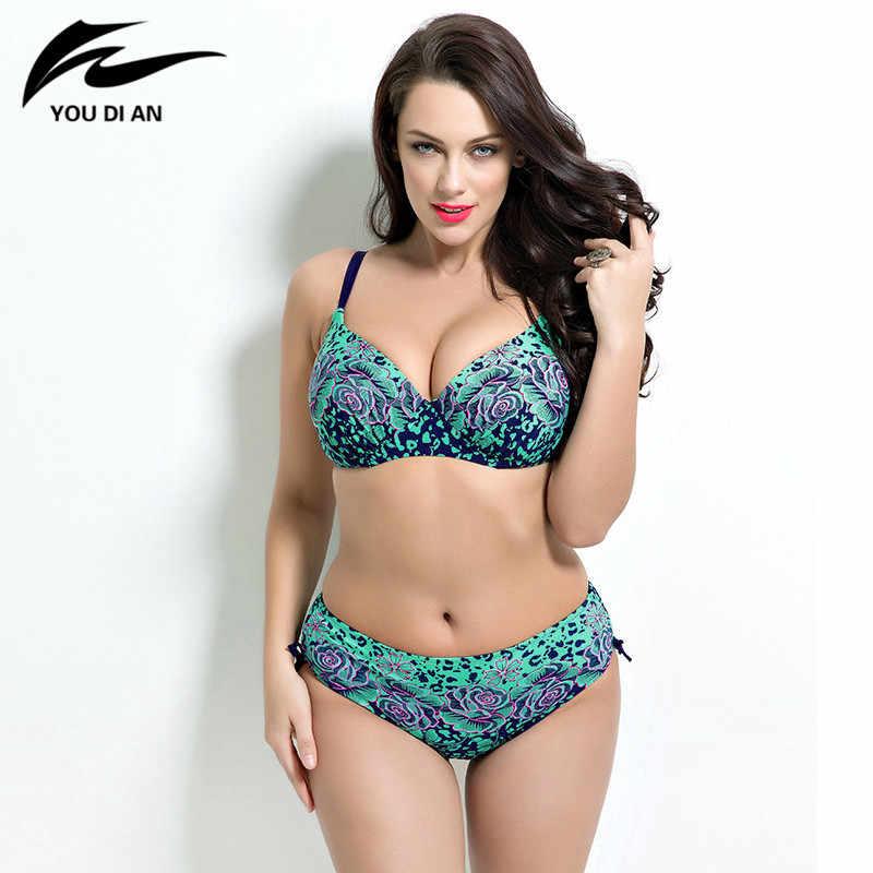 99d9d82f8 bikinis 2019 mujer plus size fat bikinis suit Bathing Push up bikini Super Large  size Bikini