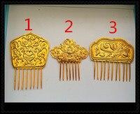 altın kaplama miao gümüş saç sopa Hanfu aksesuarları gelin veya İmparatoriçe diy yapabilirsiniz renk boncuk eklemek
