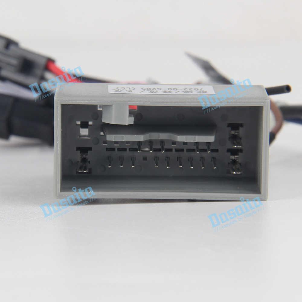 hight resolution of  dasaita dyx016 car radio audio wiring harness adapter with radio antenna adapter for honda city fit