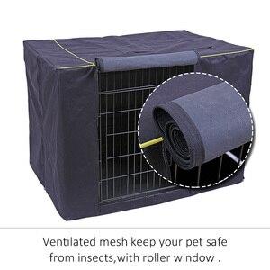 Image 3 - Capa impermeável para casa de cachorro, capa à prova de poeira e durável para gaiola de cães de oxford, dobrável, lavável, capa de cachorro